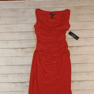 Ralph Lauren salmon evening dress
